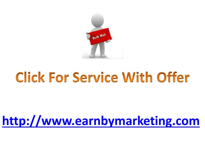 Click For Service With Offer