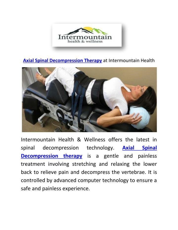 Axial Spinal Decompression Therapy