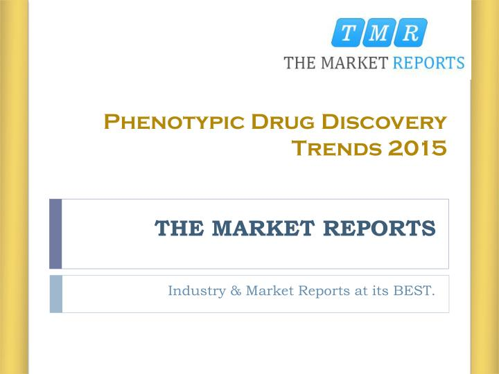 Phenotypic Drug Discovery Trends 2015