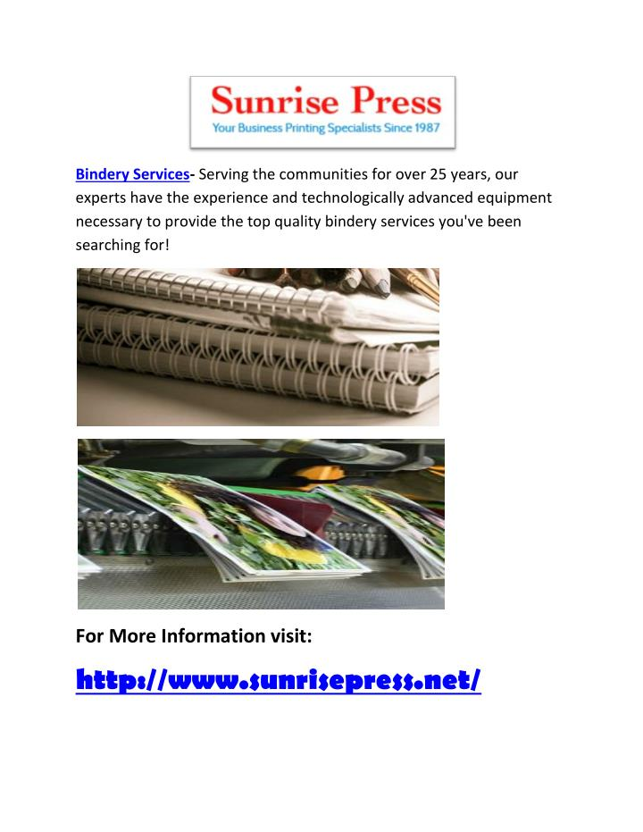 Bindery Services-