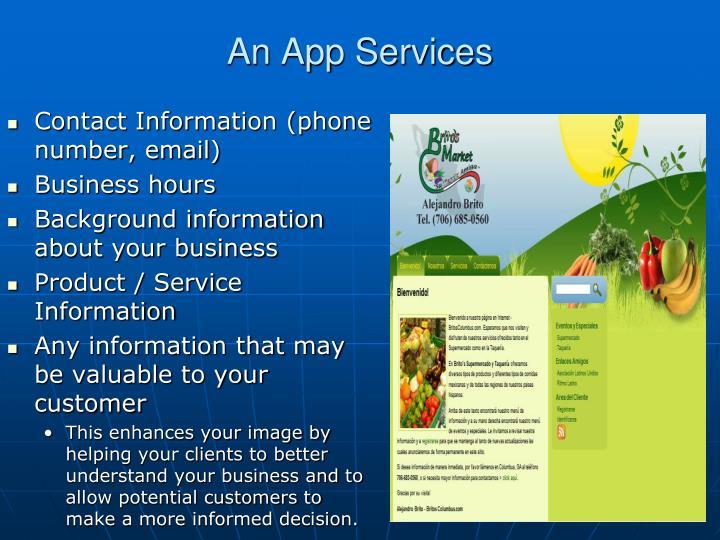 An App Services