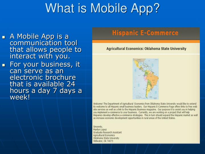 What is mobile app