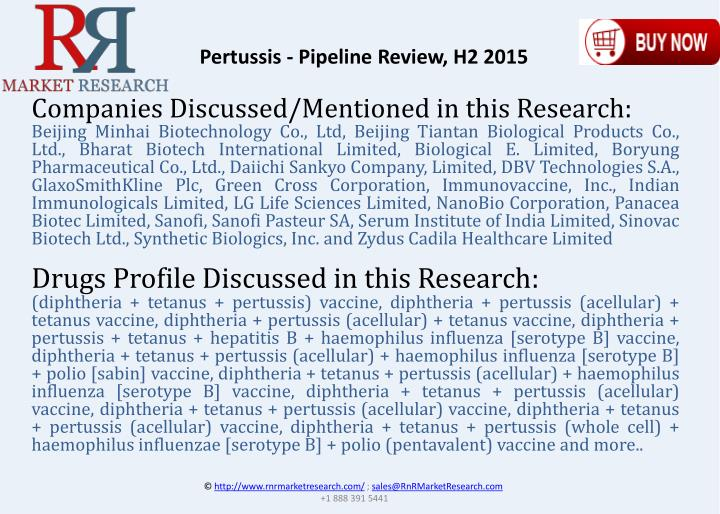 Pertussis - Pipeline Review, H2 2015