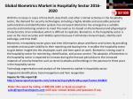global biometrics market in hospitality sector 2016 20202