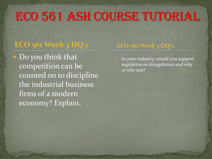 ECO 561 ASH