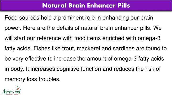 Natural Brain Enhancer Pills