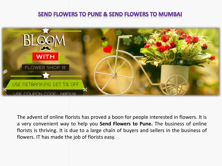 Send Flowers to Pune & Send Flowers to Mumbai