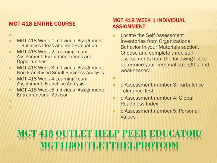 MGT 418 Entire Course