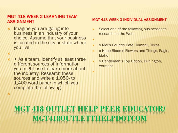 Mgt 418 outlet help peer educator mgt418outletthelpdotcom2