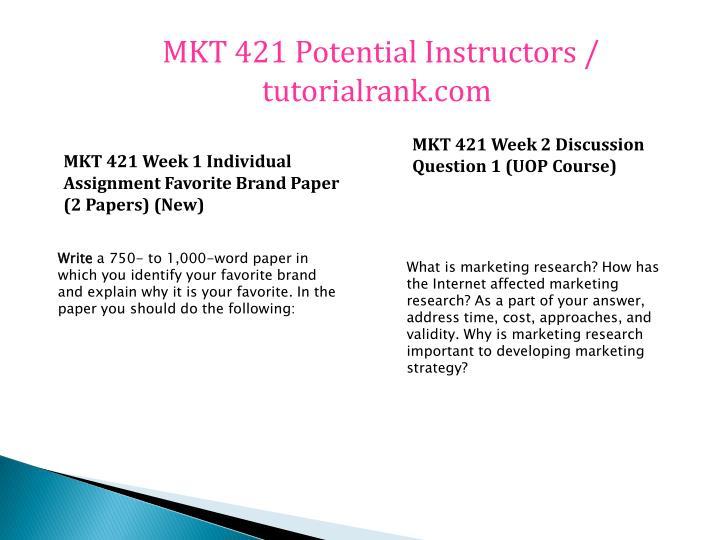 MKT 421