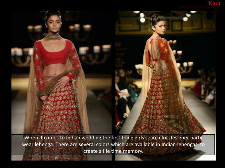 When it comes to Indian wedding the first thing girls search for designer party wear
