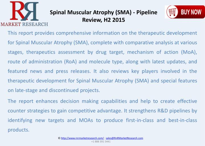 Spinal Muscular Atrophy (SMA) - Pipeline Review, H2 2015