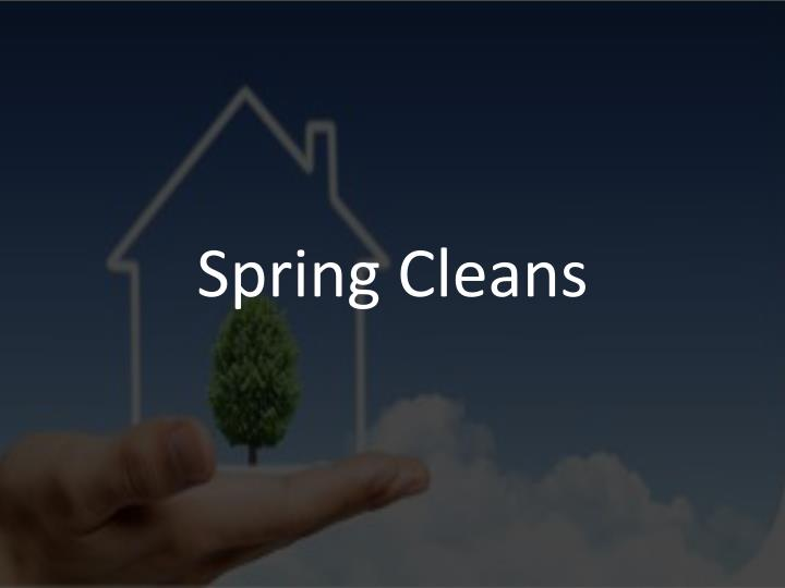 Spring Cleans