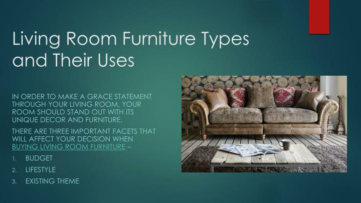 Living room furniture types and their uses