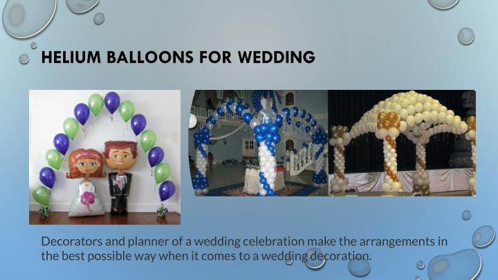 Helium Balloons For Wedding