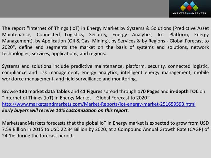 "The report ""Internet of Things ("