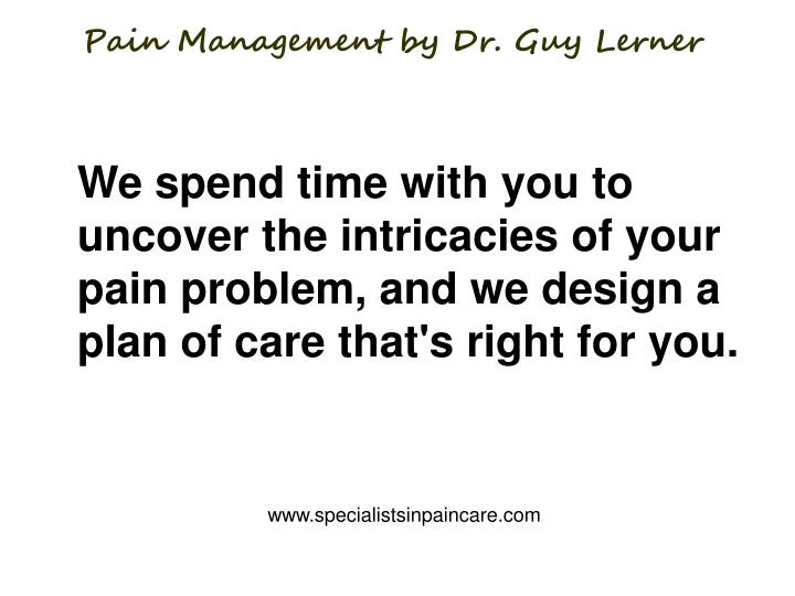 Pain management by dr guy lerner1