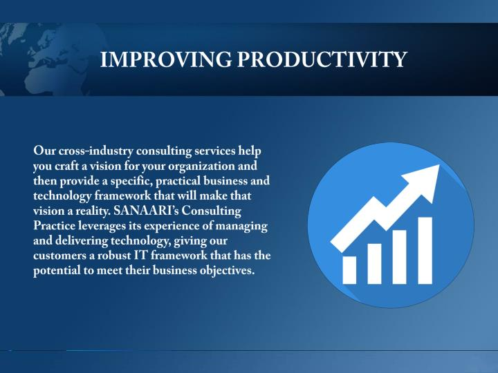 IMPROVING PRODUCTIVITY