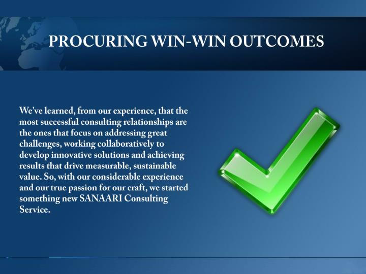 PROCURING WIN-WIN OUTCOMES
