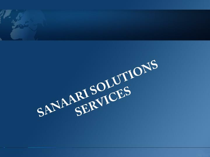 Sanaari solutions services