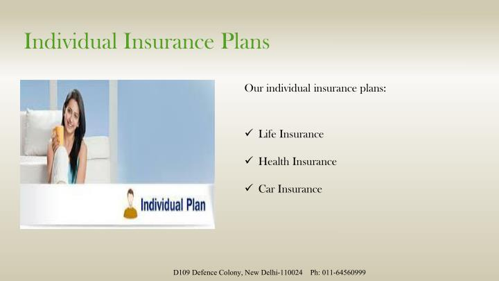 Individual Insurance Plans