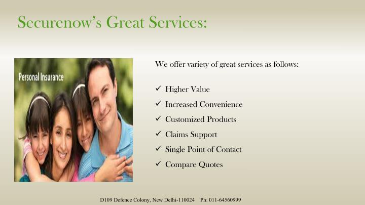Securenow s great services
