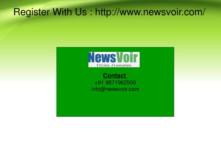 Register With Us : http://www.newsvoir.com/