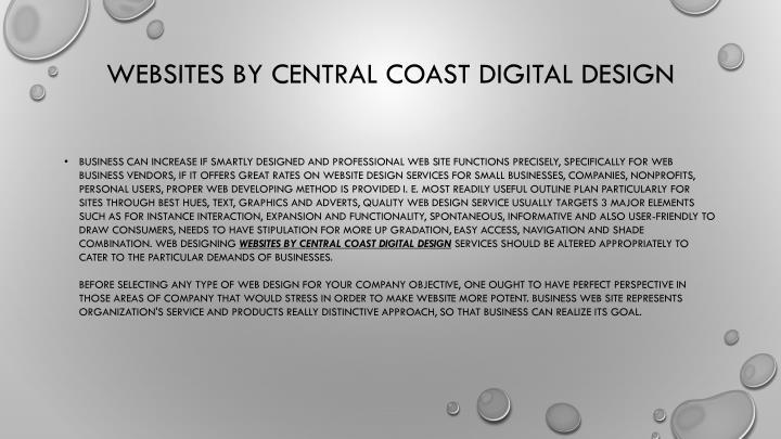 websites by central coast digital design