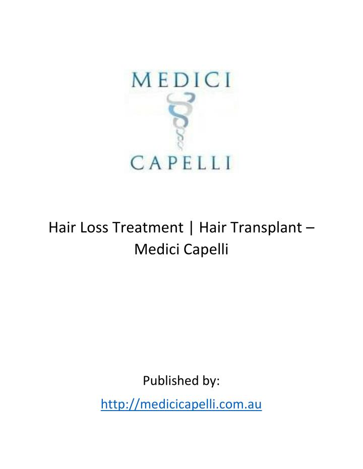 Hair Loss Treatment | Hair Transplant