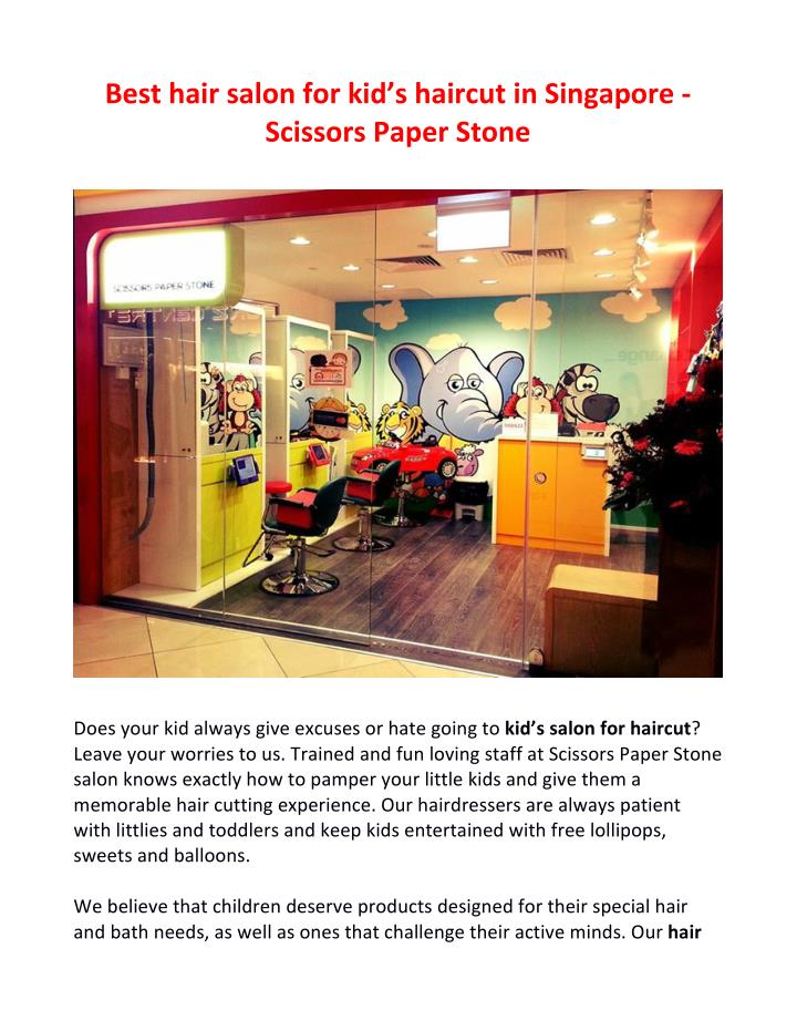 Best	   hair	   salon	   for	   kid's	   haircut	   in	   Singapore	   -­‐