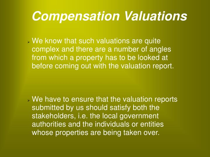 Compensation Valuations
