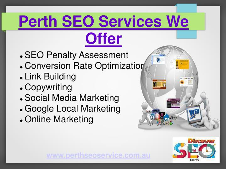 Perth SEO Services We Offer