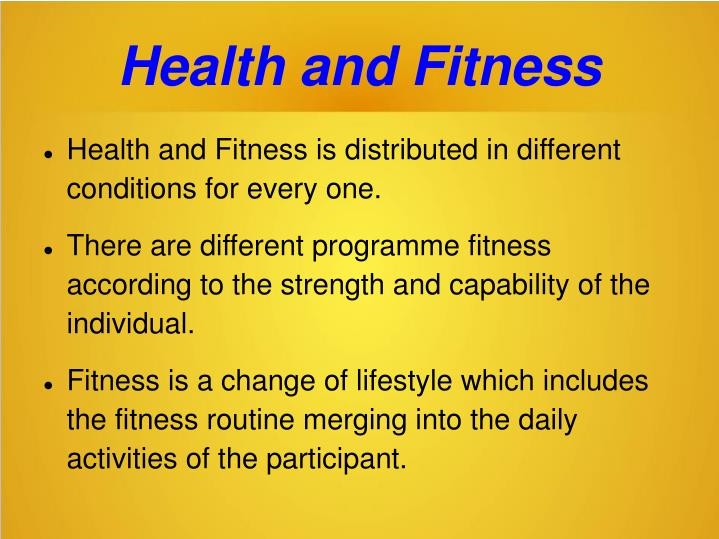 Health and fitness1