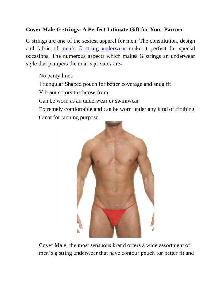 Cover Male G strings- A Perfect Intimate Gift for Your Partner