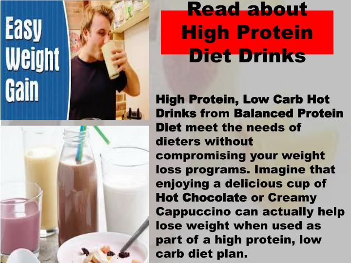 Read about high protein diet drinks
