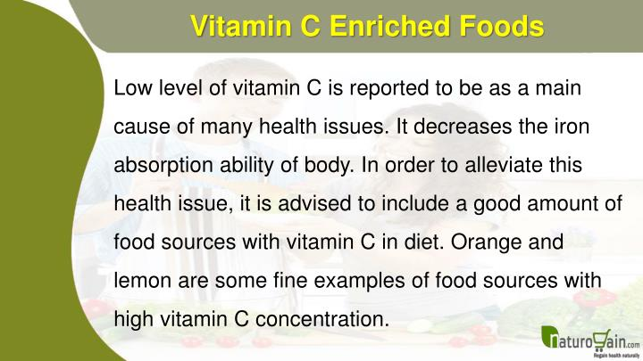 Vitamin C Enriched Foods