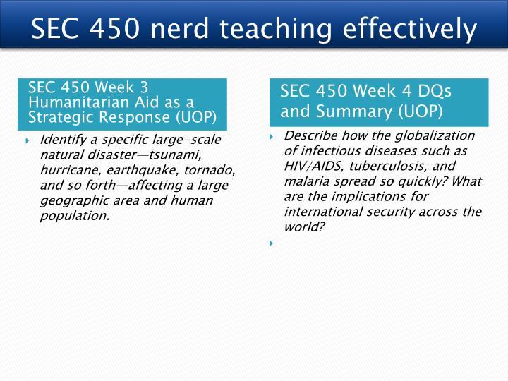 SEC 450 nerd teaching effectively