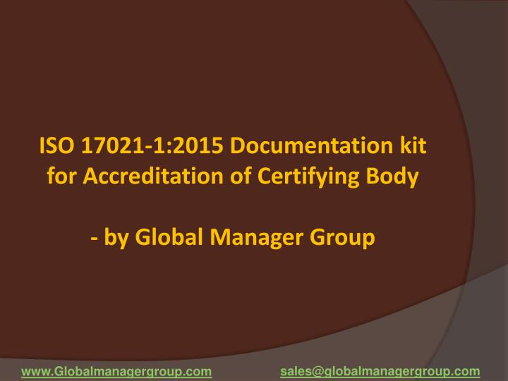 ISO 17021-1:2015 Documentation kit