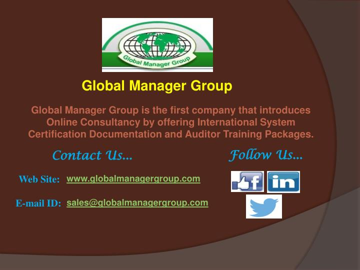 Global Manager Group