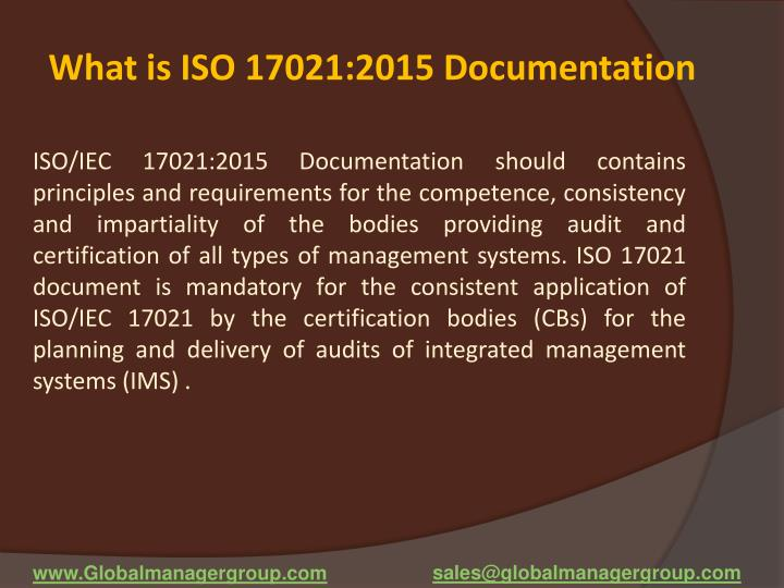 What is ISO 17021:2015 Documentation