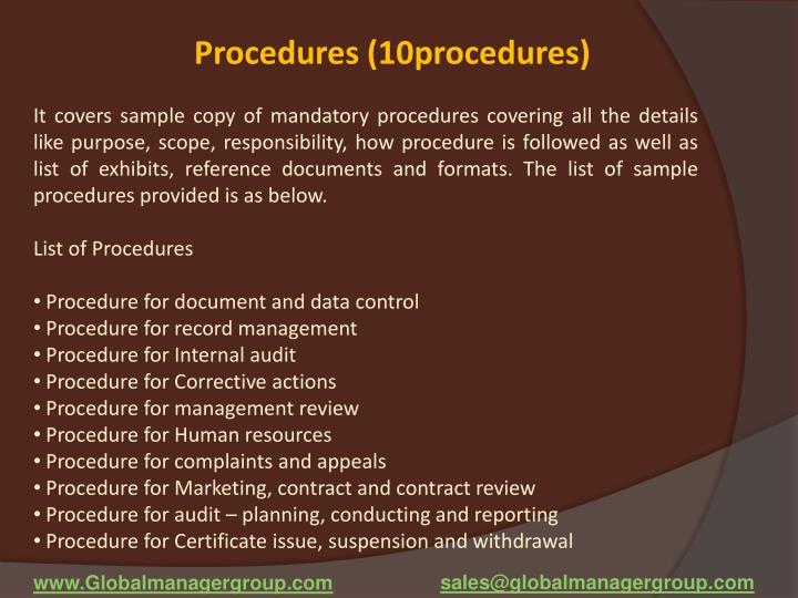 Procedures (10procedures)