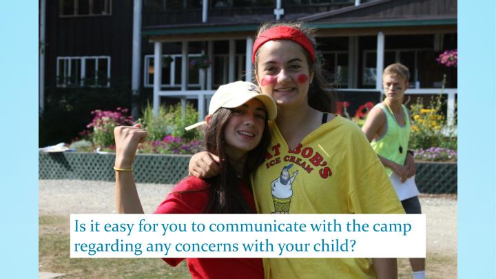 Is it easy for you to communicate with the camp