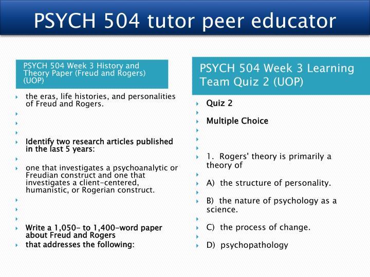 PSYCH 504 tutor peer