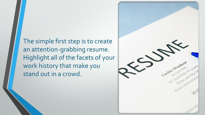 The simple first step is to create