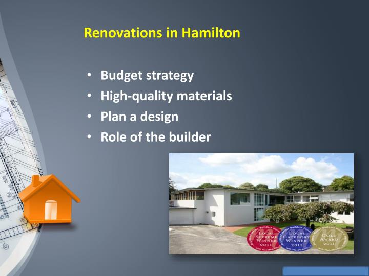 Renovations in Hamilton