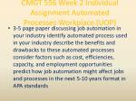 cmgt 556 week 2 individual assignment automated processes workplace uop