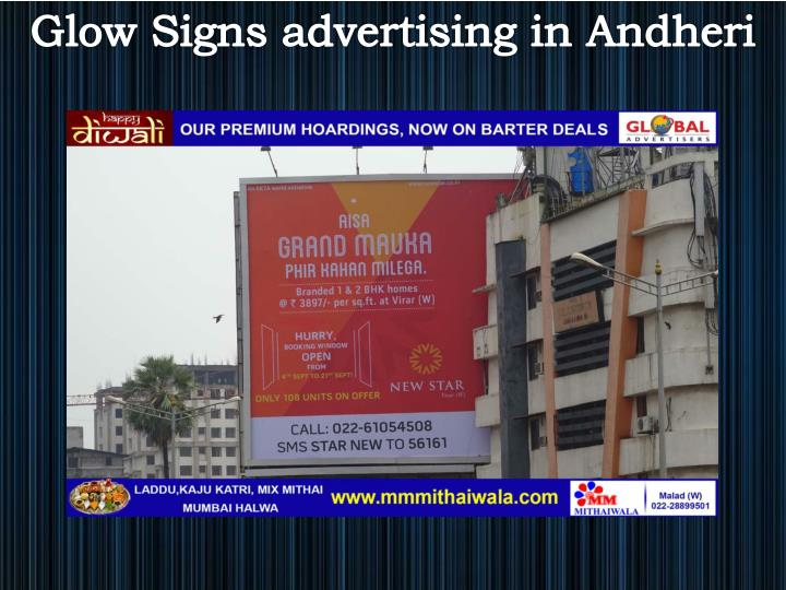 Glow Signs advertising in Andheri
