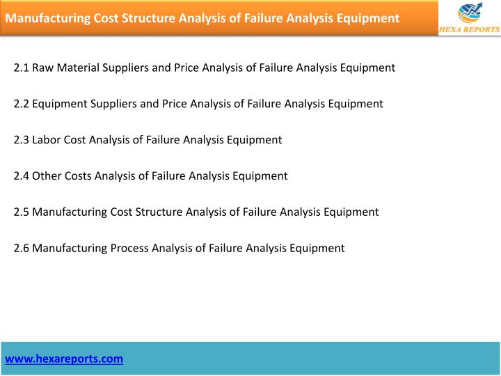 Manufacturing Cost Structure Analysis of Failure Analysis Equipment