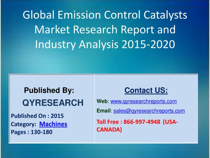Global Emission Control Catalysts