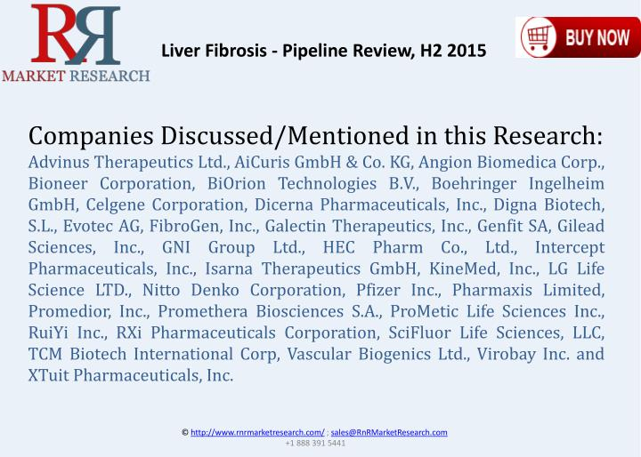 Liver Fibrosis - Pipeline Review, H2 2015